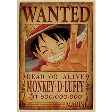 Anime One Piece Pirates Luffy Wanted Posters,2018 ... - Amazon.com
