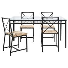 dining room sets ikea: granas table and  chairs black glass table length