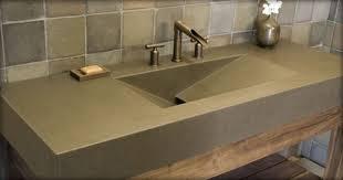 countertops popular options today: modern bathroom polished concrete sink bfcff  w h b p modern bathroom