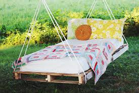 pallet swing bed beautiful wood pallet outdoor furniture