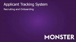 monster applicant tracking system monster applicant tracking system