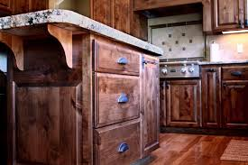 kitchen traditional style red birch raised