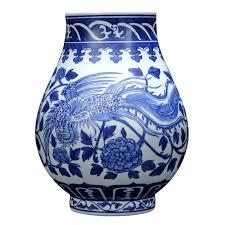 Traditional Chinese Blue and White Porcelain <b>Ceramic Vase</b> ...