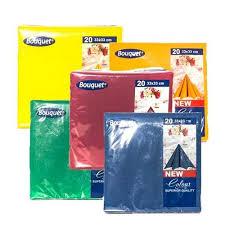 <b>Салфетки бумажные</b> 2-слойные <b>Bouquet</b> Color, цена 0.95 руб ...