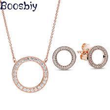<b>Boosbiy High Quality</b> Jewelry Sets for Women Round Cubic Zircon ...