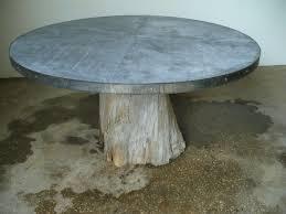 images zinc table top: cypress root zinc top table cypress round zinc jpg
