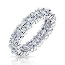 <b>Bling</b> Jewelry Alternating Baguette Solitaire <b>Stone Cubic Zirconia CZ</b> ...