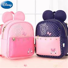 <b>Disney New</b> Minnie Pink Girl's pink <b>Mummy</b> Bag Cartoon Pattern Kid ...