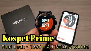 <b>Kospet Prime</b> - First Look - 1260 mAH Battery, Dual Cameras, <b>3gb</b> ...