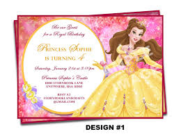 beauty and the beast invitation belle invitation disney invitation disney princess birthday party printable birthday 128270zoom