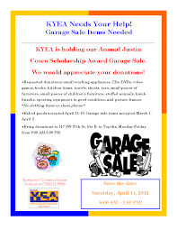 news view the garage donation flyer