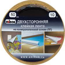 <b>Лента двусторонняя полипропиленовая</b> Unibob, 50 мм х 10 м в ...