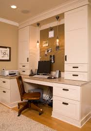 home office computer room traditional home office idea in seattle with a built in desk built desk small home office