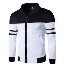 iYBUIA Patchwork Design <b>Fashion Men's Autumn Winter</b> Zipper ...