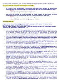 Preparation dissertation roman Slideshare PREPARATION de la DISSERTATION     Le roman et ses personnages  visions du monde et de