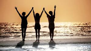 Image result for three friends silhouette