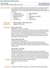 pharmacist cv example   learnist org