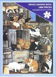 Otter House 1000 Piece Puzzle - A Company Of <b>Cats</b> | <b>Cat</b> painting ...