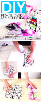 no sew projects diy pencil case or make up bag use old fabric accessoriesendearing lay small