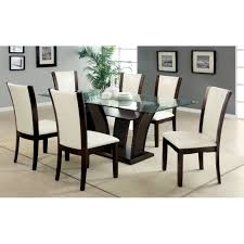 black rectangular leg dining table american