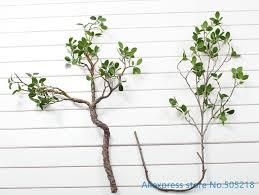 <b>1 PCS Beautiful Artificial</b> Green Leaves Branch Plant Plastic Bush ...