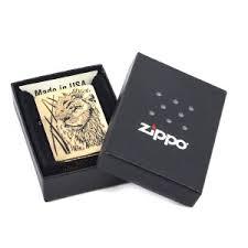 <b>Зажигалка Zippo</b> 204B <b>Proud</b> Lion Brushed Brass купить в ...