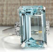 16.42CT <b>Natural</b> Aquamarine <b>925 Sterling Silver</b> Wedding Ring | Wish