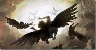 Simbolizando a queda dos anjos de Satanás