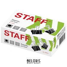 <b>Зажимы</b> для бумаг <b>Staff</b>, комплект 12 шт., 51 мм, на 230 листов ...