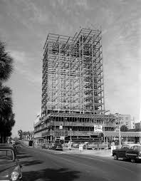 view looking at construction of the independent life and accident insurance company home office building building home office
