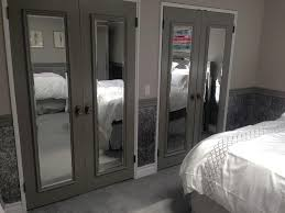 Perfect Closet With Mirror Doors