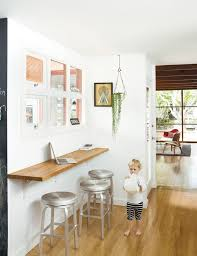 small space solution for an eat in kitchen wall mounted oak bar with breakfast bars furniture