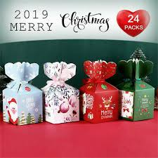 Christmas Eve Apple Box Cake Candy Pouch Wrapp Paper Box ...