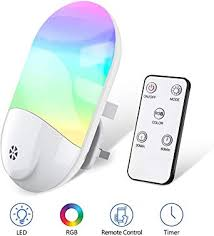 <b>LED Night</b> Lights Plug in Wall, VISLAN <b>Smart</b> Remote RGB Plug-in ...
