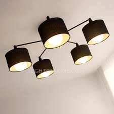 contemporary farbric shade 5 light cheap modern ceiling lights cheap ceiling lighting