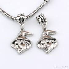 2019 <b>Antique Silver</b> *UGLY WITCH* Dangle Charm Beads Fit ...