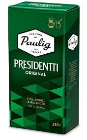 Молотый <b>кофе Paulig Presidentti Original</b>, 250 гр. — купить в ...