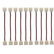 <b>10pcs Waterproof</b> 10mm 2 pin LED <b>Connectors</b> for SMD 5050 ...