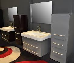 bathroom vanity uk company countertop combination: minimalist light grey modern floating double bathroom vanities with drawers cabinet and large square mirror