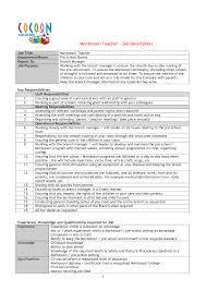 good teacher resume examples  tomorrowworld comontessori teacher resume examples   good teacher resume
