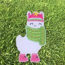 <b>Pulaqi Cartoon</b> Alpaca Iron On Patches For Clothing Kids Costume ...