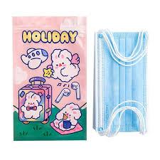 5Pcs <b>Cute</b> Bunny Packing Sealed Bag <b>Mask Storage Bag</b> Snack ...