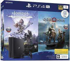 <b>Игровая консоль Sony PlayStation</b> Pro 1Tб в комплекте Horizon ...