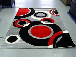 minimalis fetching rug design with pleasing red black white color design idea at comely gray black white rug home