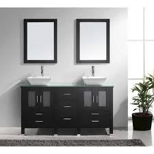 usa bradford x double sink bathroom virtu usa bradford  in double basin vanity in espresso with glass vani