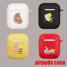 Apple Airpods Cute <b>Cartoon</b> SpongeBob Scrub <b>TPU Headphone</b> ...