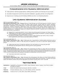unix systems administrator resumefree resume templates