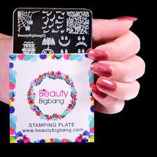 <b>BeautyBigBang 6*6cm</b> Square <b>Nail Plate</b> Pattern Stamp Template ...