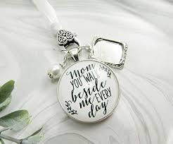 Wedding Bouquet Photo Charm Mom <b>You Walk Beside</b> Me Every ...