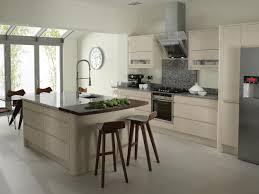 modern kitchen setup: excerpt pics of cream floor shiny tiles chic modern open kitchen design
